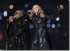 Madona, Cee Lo Green Super Bowl